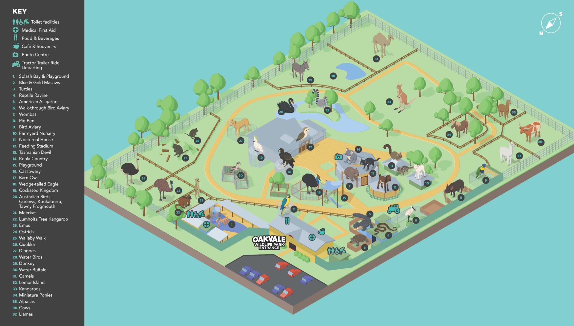 Oakvale Wildlife park map
